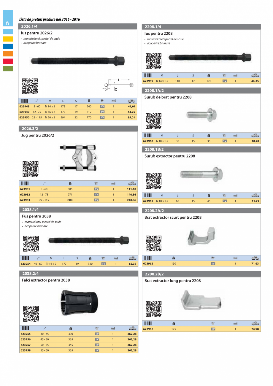 Pagina 6 - Lista de preturi produse noi 2015 - 2016 UNIOR 1510, 1517 S Catalog, brosura Romana uri...