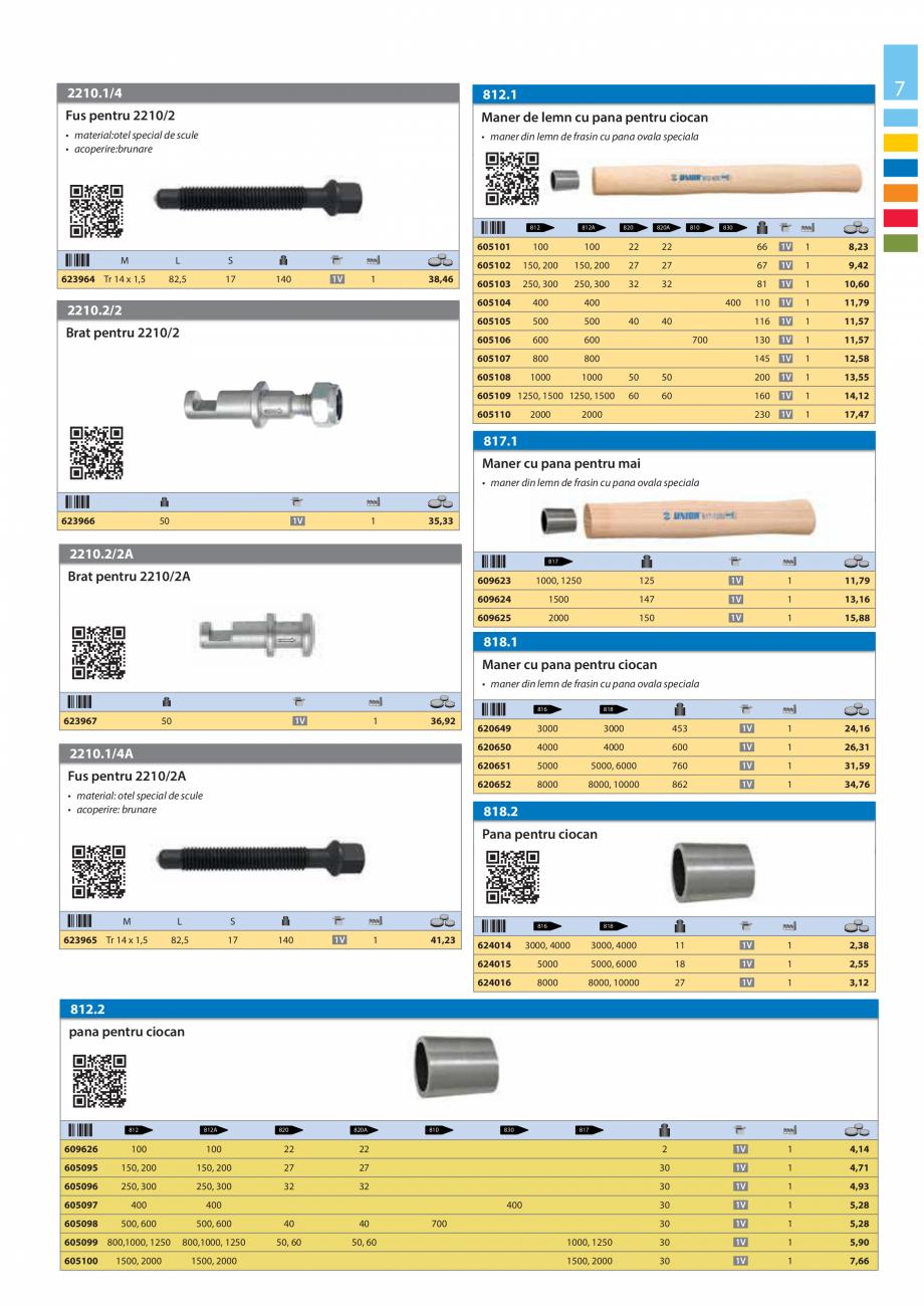 Pagina 7 - Lista de preturi produse noi 2015 - 2016 UNIOR 1510, 1517 S Catalog, brosura Romana a de ...