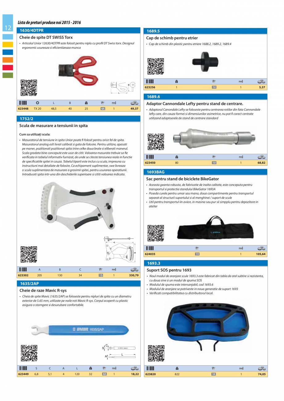 Pagina 12 - Lista de preturi produse noi 2015 - 2016 UNIOR 1510, 1517 S Catalog, brosura Romana...