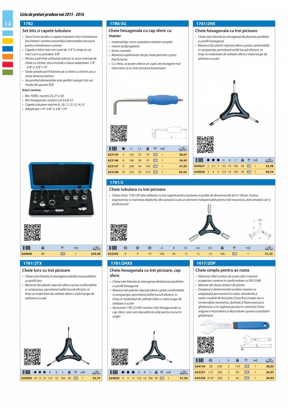 Pagina 14 - Lista de preturi produse noi 2015 - 2016 UNIOR 1510, 1517 S Catalog, brosura Romana 2,38...