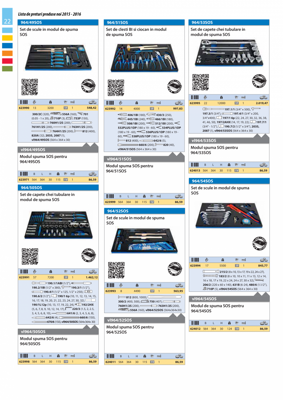 Pagina 22 - Lista de preturi produse noi 2015 - 2016 UNIOR 1510, 1517 S Catalog, brosura Romana rpul...