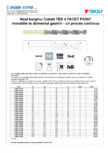 Burghiu cobalt TIVOLY - TBX 4FACET POINT