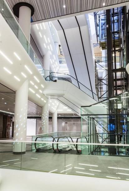 Lift din sticla - prelucrarea sticlei si montaj Mall Promenada Prelucrare sticla si montaj