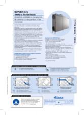 Unitate de ventilatie verticala cu recuperator in flux incrucisat ATREA