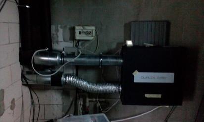 Sistem de ventilatie cu recuperare de caldura - detaliu DUPLEX EASY Casa familiala din Judetul Mures