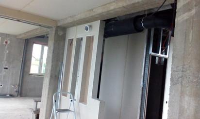 Sistem de ventilatie cu recuperare de caldura - detaliu montaj DUPLEX EASY Casa familiala din Judetul