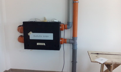 Unitate de ventilatie - detaliu DUPLEX EASY Ventilatie vestiare, stadion de Rugby