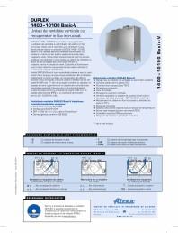 Unitate de ventilatie verticale cu recuperator in flux incrucisat