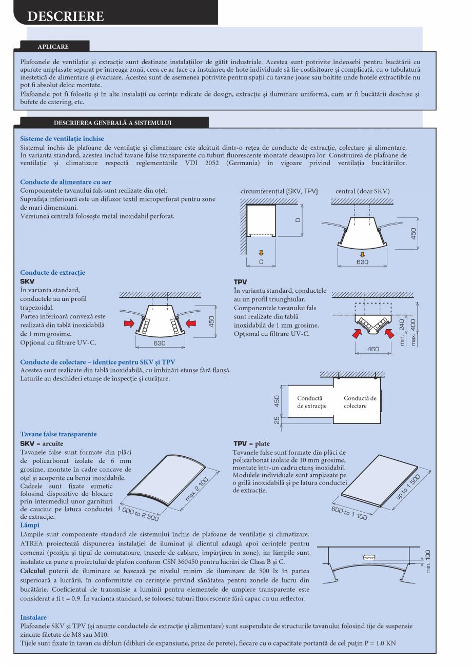 Pagina 2 - Plafoane de ventilatie si extractie pentru bucatarii industriale ATREA Catalog, brosura...