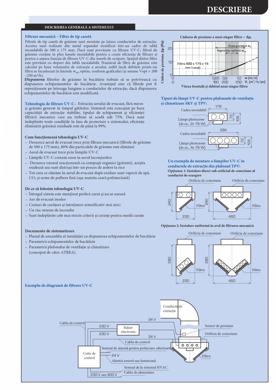 Pagina 3 - Plafoane de ventilatie si extractie pentru bucatarii industriale ATREA Catalog, brosura...