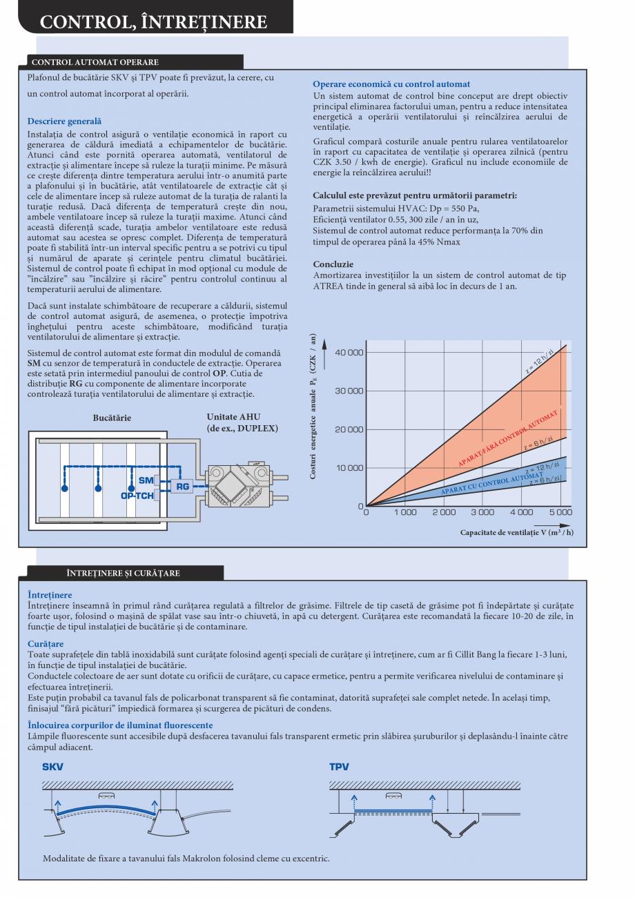 Pagina 6 - Plafoane de ventilatie si extractie pentru bucatarii industriale ATREA Catalog, brosura...