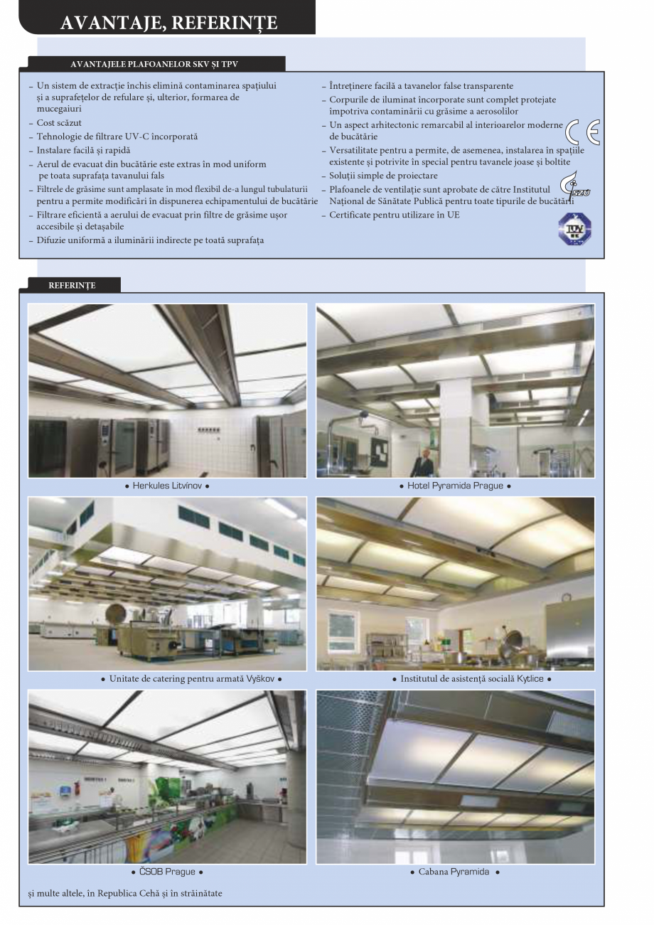 Pagina 8 - Plafoane de ventilatie si extractie pentru bucatarii industriale ATREA Catalog, brosura...