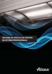 Ventilatie moderna pentru bucatarii profesionale  / Hote pentru bucatarii profesionale, tavane ventilate / ATREA