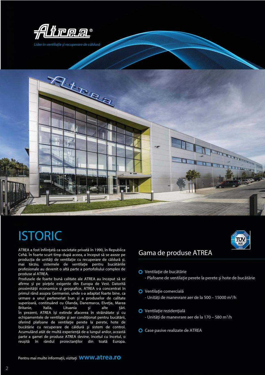 Pagina 2 - Ventilatie moderna pentru bucatarii profesionale  ATREA Diner-T, Variant, Grande, Modis 2...