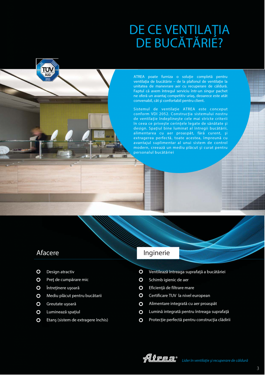 Pagina 3 - Ventilatie moderna pentru bucatarii profesionale  ATREA Diner-T, Variant, Grande, Modis 2...
