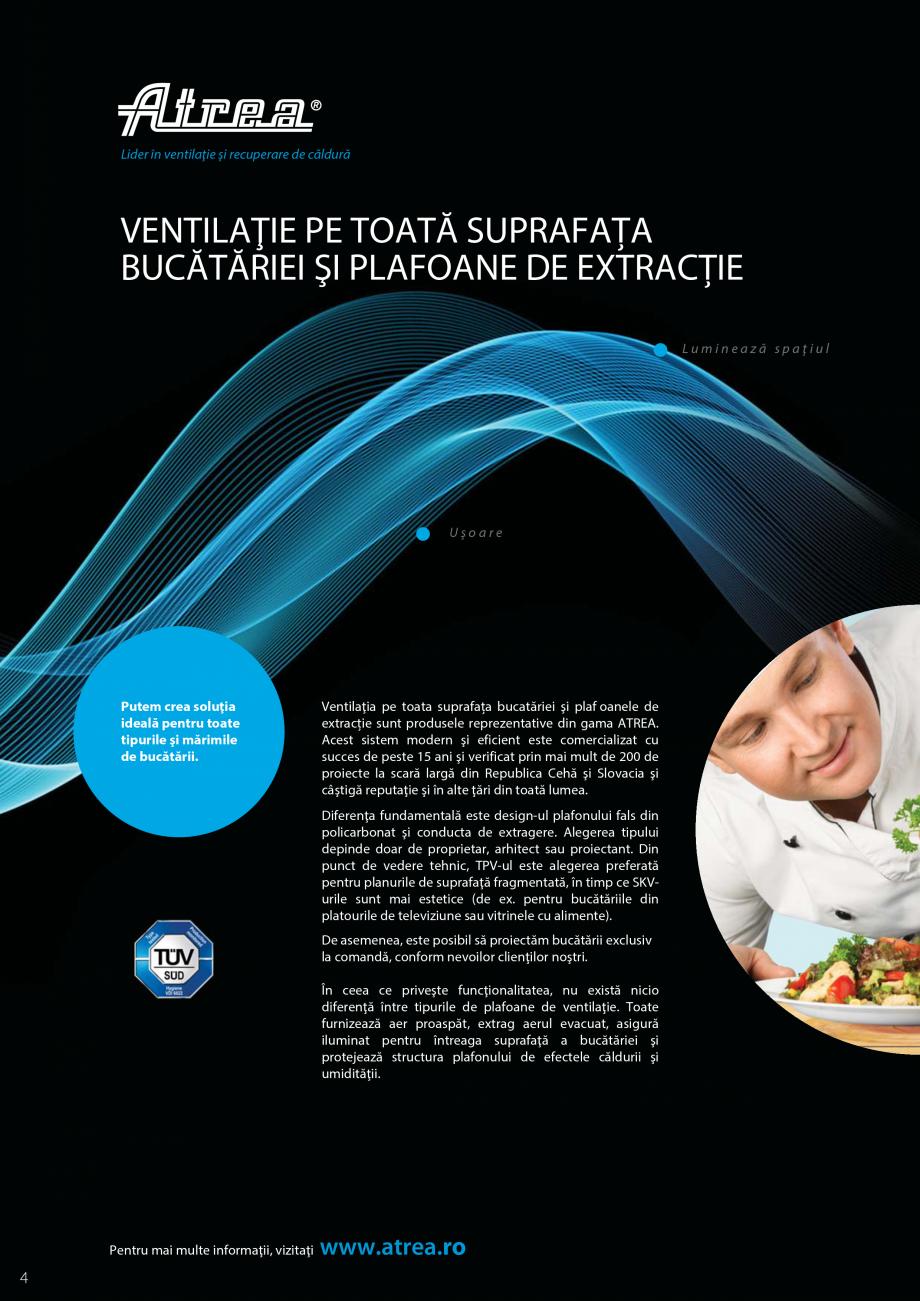 Pagina 4 - Ventilatie moderna pentru bucatarii profesionale  ATREA Diner-T, Variant, Grande, Modis 2...