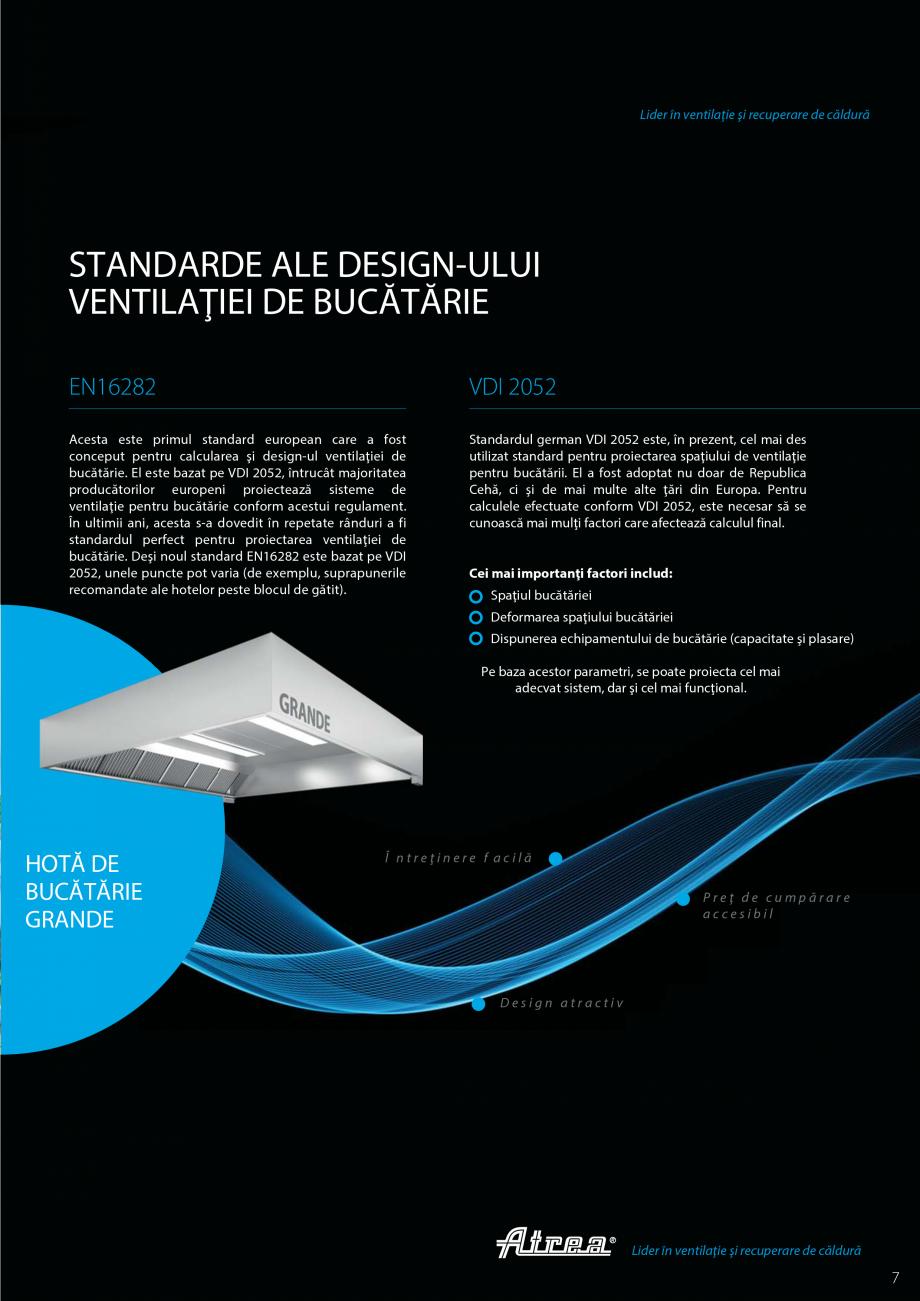 Pagina 5 - Ventilatie moderna pentru bucatarii profesionale  ATREA Diner-T, Variant, Grande, Modis 2...