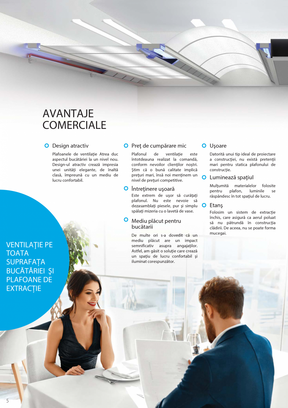 Pagina 6 - Ventilatie moderna pentru bucatarii profesionale  ATREA Diner-T, Variant, Grande, Modis 2...