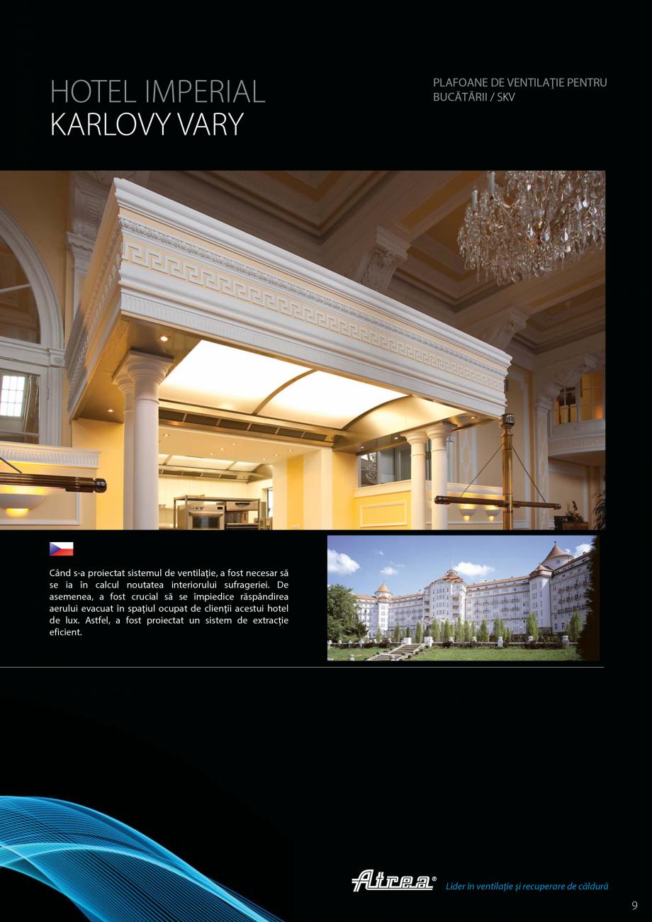 Pagina 9 - Ventilatie moderna pentru bucatarii profesionale  ATREA Diner-T, Variant, Grande, Modis 2...