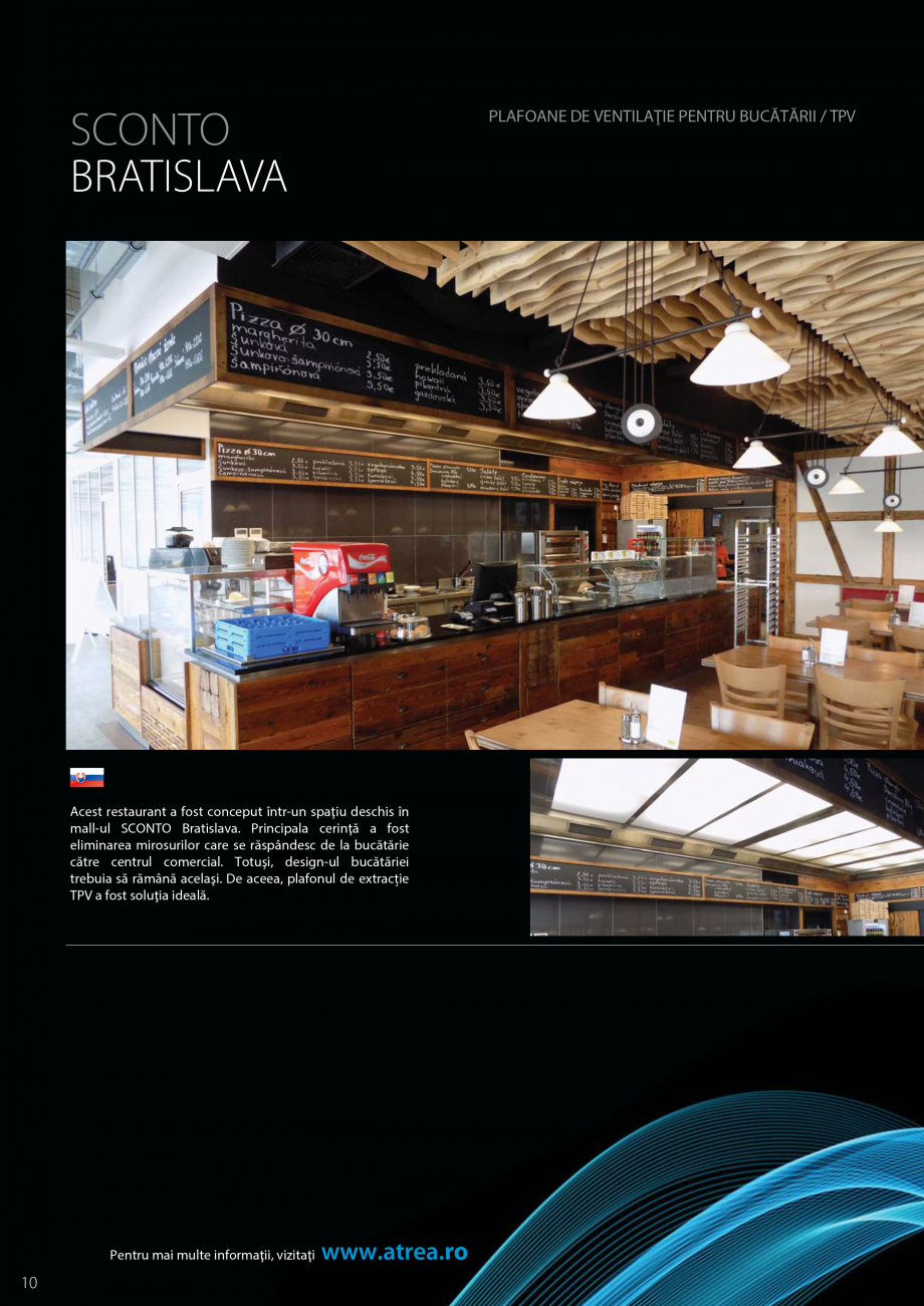Pagina 10 - Ventilatie moderna pentru bucatarii profesionale  ATREA Diner-T, Variant, Grande, Modis ...