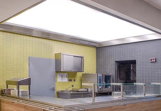 Hote pentru bucatarii profesionale, tavane ventilate ATREA