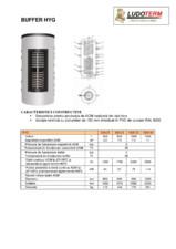 Buffer combinat cu serpentina pentru prepararea apei calde menajere SUNSYSTEM