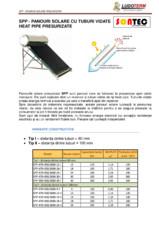 Panouri solare cu tuburi vidate Heat Pipe presurizate SONTEC