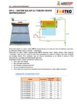 Panouri solare cu tuburi vidate nepresurizate SONTEC