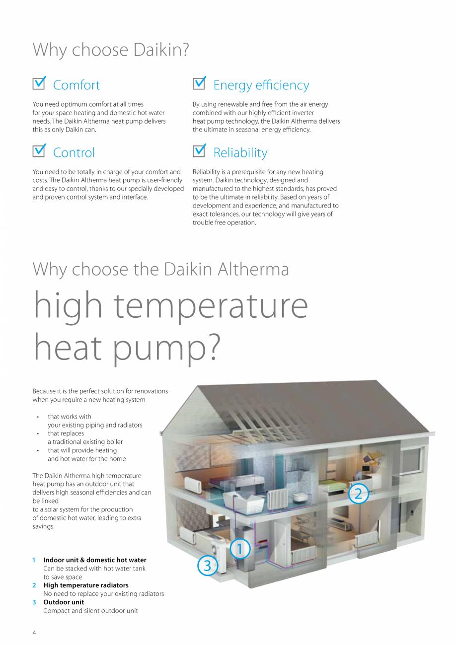 Pagina 4 - Pompa de caldura de temperatura ridicata DAIKIN R HT Fisa tehnica Engleza 0 (1 / 14.00 (2...