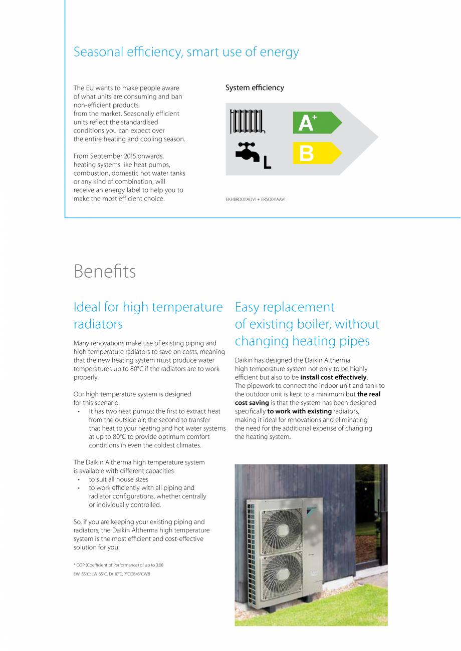 Pagina 5 - Pompa de caldura de temperatura ridicata DAIKIN R HT Fisa tehnica Engleza  -20~35 -20~35 ...