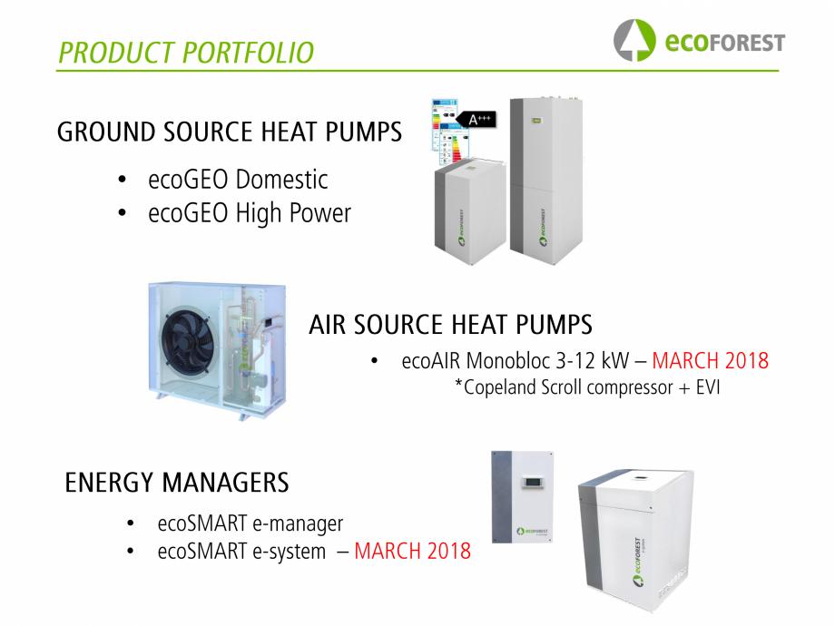 Pagina 2 - Pompe de caldura  ecoFOREST ecoGEO Basic, ecoGEO Compact, ecoGEO HP, ecoAIR Monobloc,...