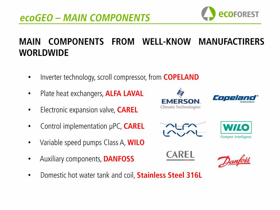 Pagina 12 - Prezentare pompe de caldura ecoFOREST ecoGEO HP, ecoGEO Compact, ecoGEO Basic Catalog,...