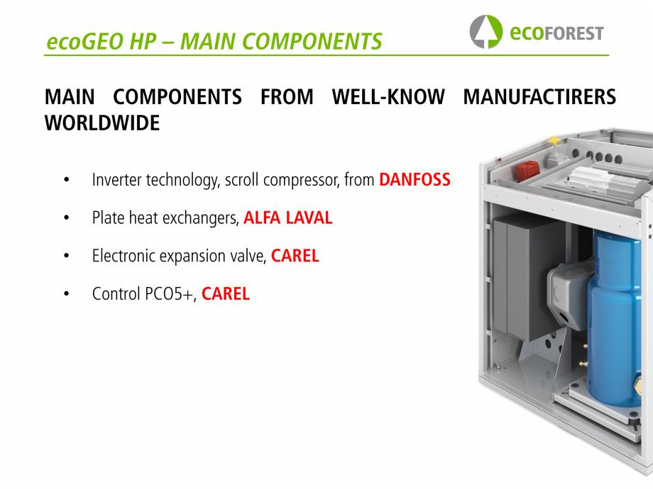 Pagina 51 - Prezentare pompe de caldura ecoFOREST ecoGEO HP, ecoGEO Compact, ecoGEO Basic Catalog,...