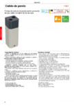 Pompa de caldura de perete pentru productie de apa calda menajera MAXA - CALIDO
