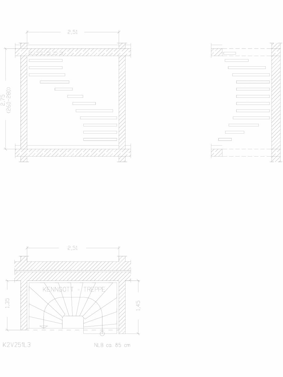 Pagina 1 - CAD-DWG Scara pe structura de metal - K2V251L3 SCARI RO Detaliu de produs