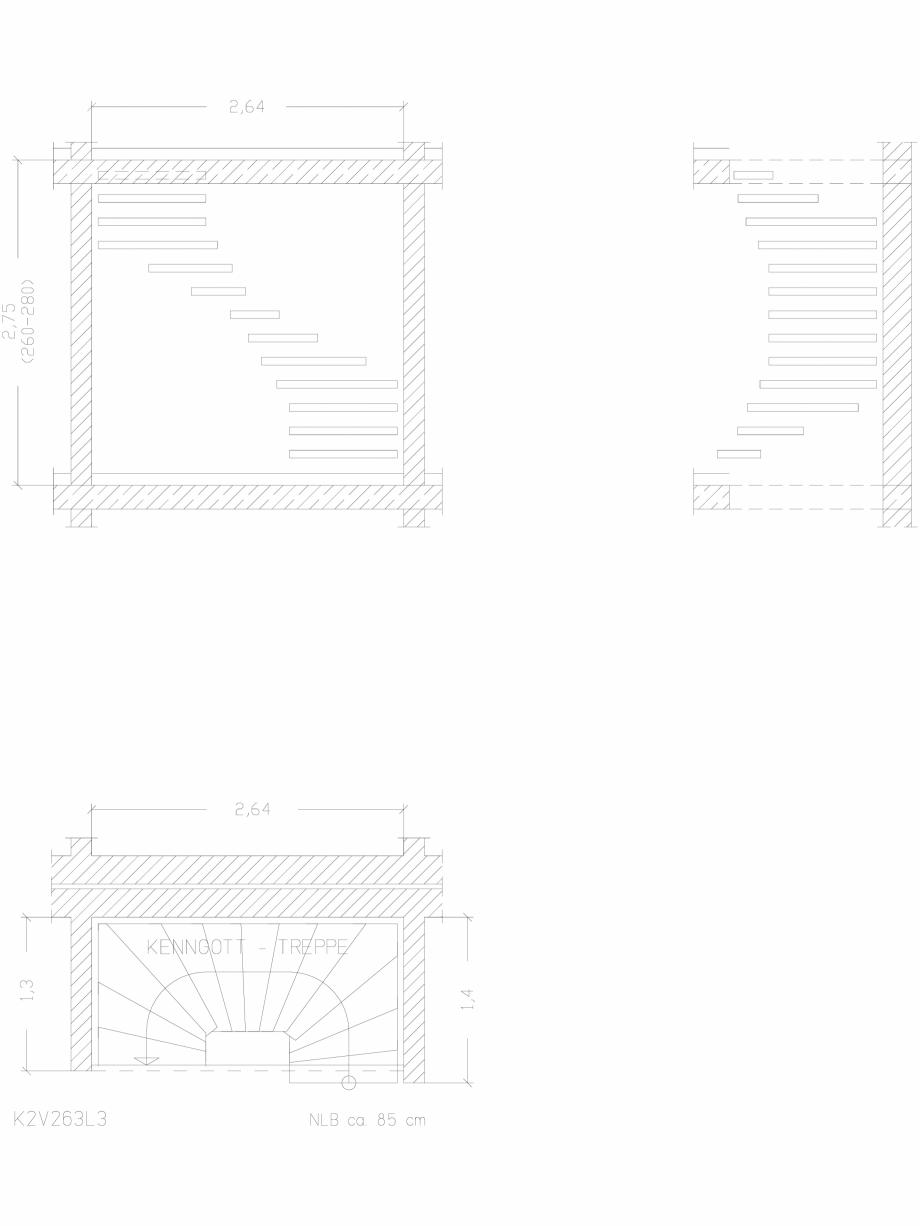 Pagina 1 - CAD-DWG Scara pe structura de metal - K2V263L3 SCARI RO Detaliu de produs