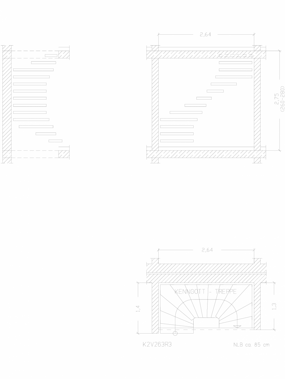 Pagina 1 - CAD-DWG Scara pe structura de metal - K2V263R3 SCARI RO Detaliu de produs