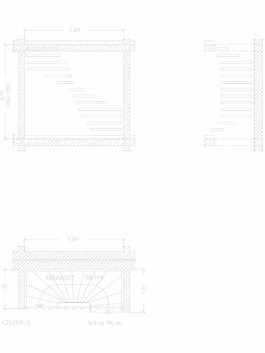 Pagina 1 - CAD-DWG Scara pe structura de metal - K2V288L3 SCARI RO Detaliu de produs