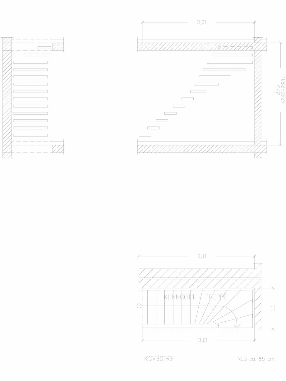 Pagina 1 - CAD-DWG Scara pe structura de metal - KOV301R3 SCARI RO Detaliu de produs
