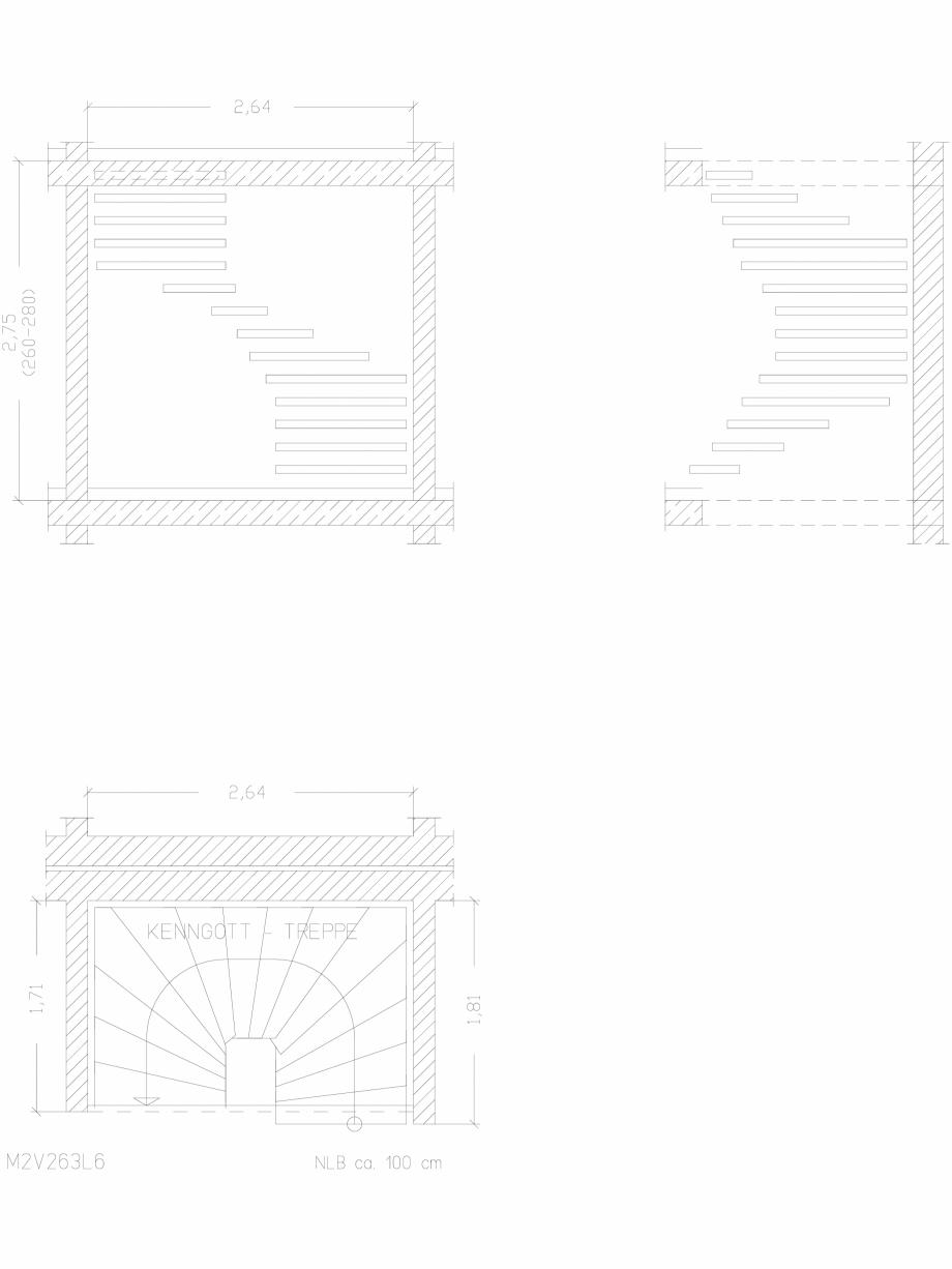 Pagina 1 - CAD-DWG Scara pe structura de metal - M2V263L6 SCARI RO Detaliu de produs