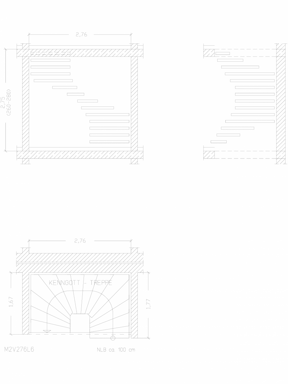 Pagina 1 - CAD-DWG Scara pe structura de metal - M2V276L6 SCARI RO Detaliu de produs