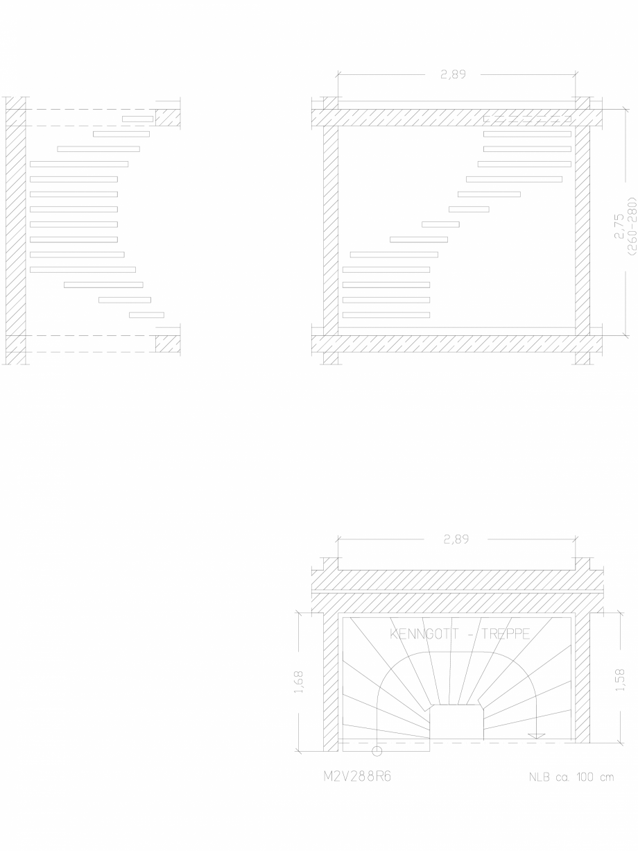 Pagina 1 - CAD-DWG Scara pe structura de metal - M2V288R6 SCARI RO Detaliu de produs