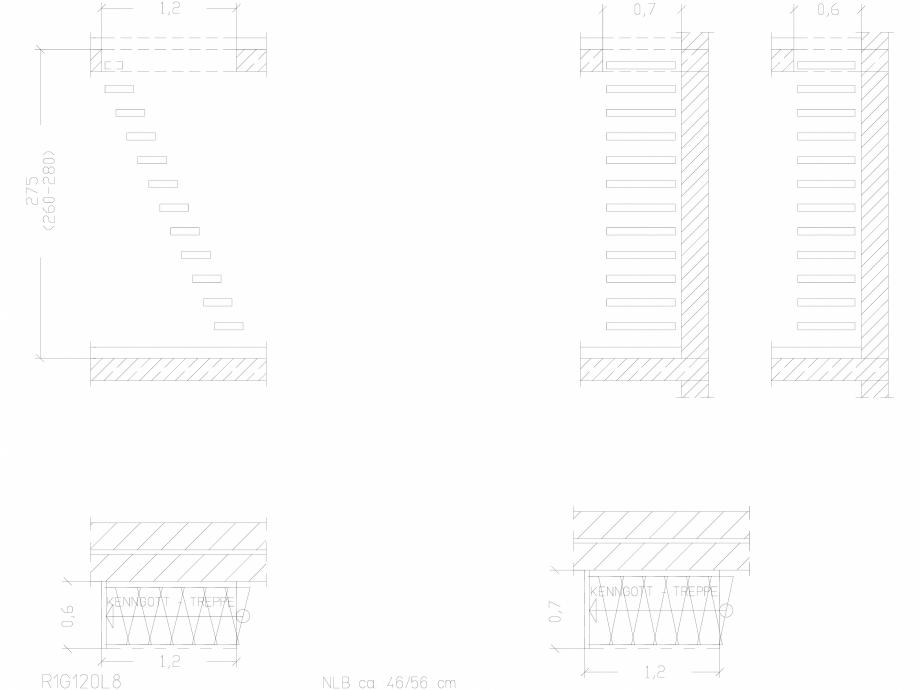 Pagina 1 - CAD-DWG Scara pe structura de metal - R1G120L8 SCARI RO Detaliu de produs