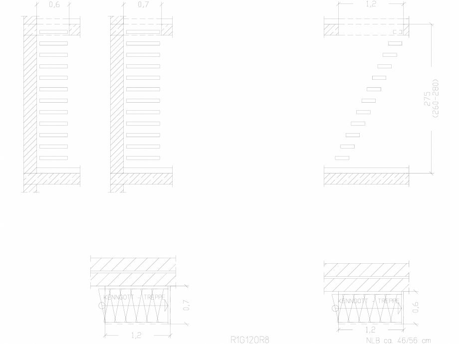 Pagina 1 - CAD-DWG Scara pe structura de metal - R1G120R8 SCARI RO Detaliu de produs
