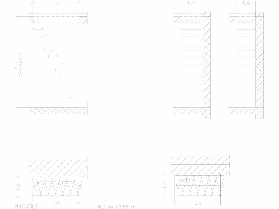 Pagina 1 - CAD-DWG Scara pe structura de metal - R1G140L9 SCARI RO Detaliu de produs