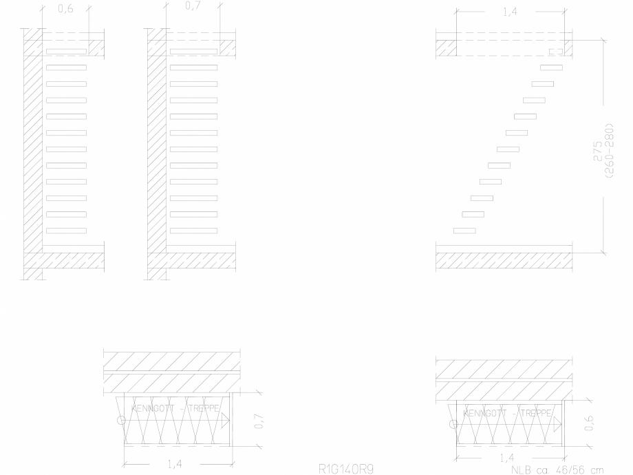 Pagina 1 - CAD-DWG Scara pe structura de metal - R1G140R9 SCARI RO Detaliu de produs