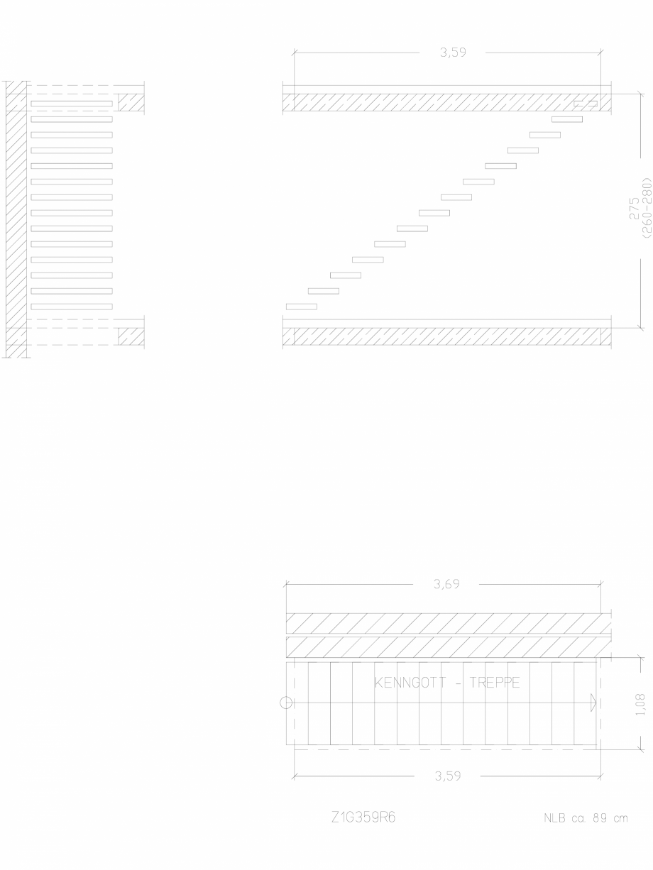 Pagina 1 - CAD-DWG Scara pe structura de metal - Z1G359R6 SCARI RO Detaliu de produs