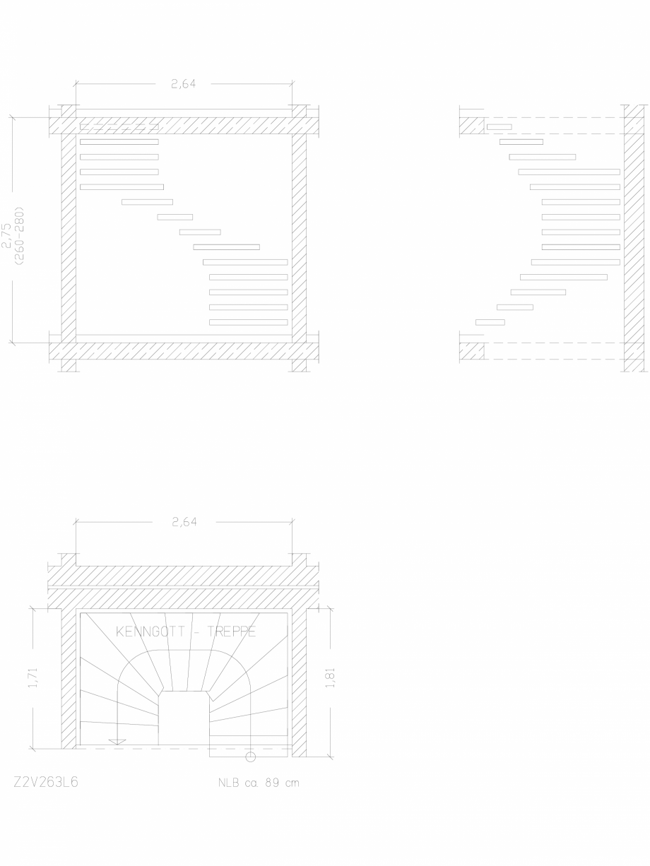 Pagina 1 - CAD-DWG Scara pe structura de metal - Z2V263L6 SCARI RO Detaliu de produs