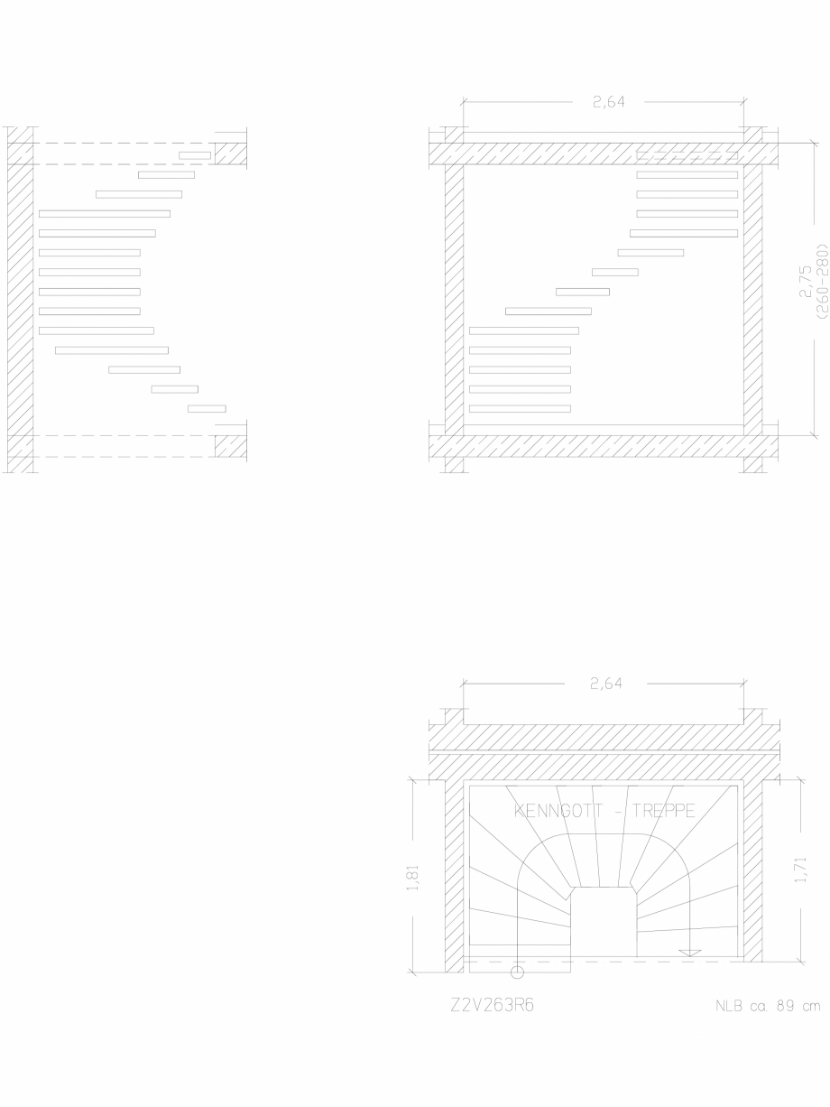 Pagina 1 - CAD-DWG Scara pe structura de metal - Z2V263R6 SCARI RO Detaliu de produs