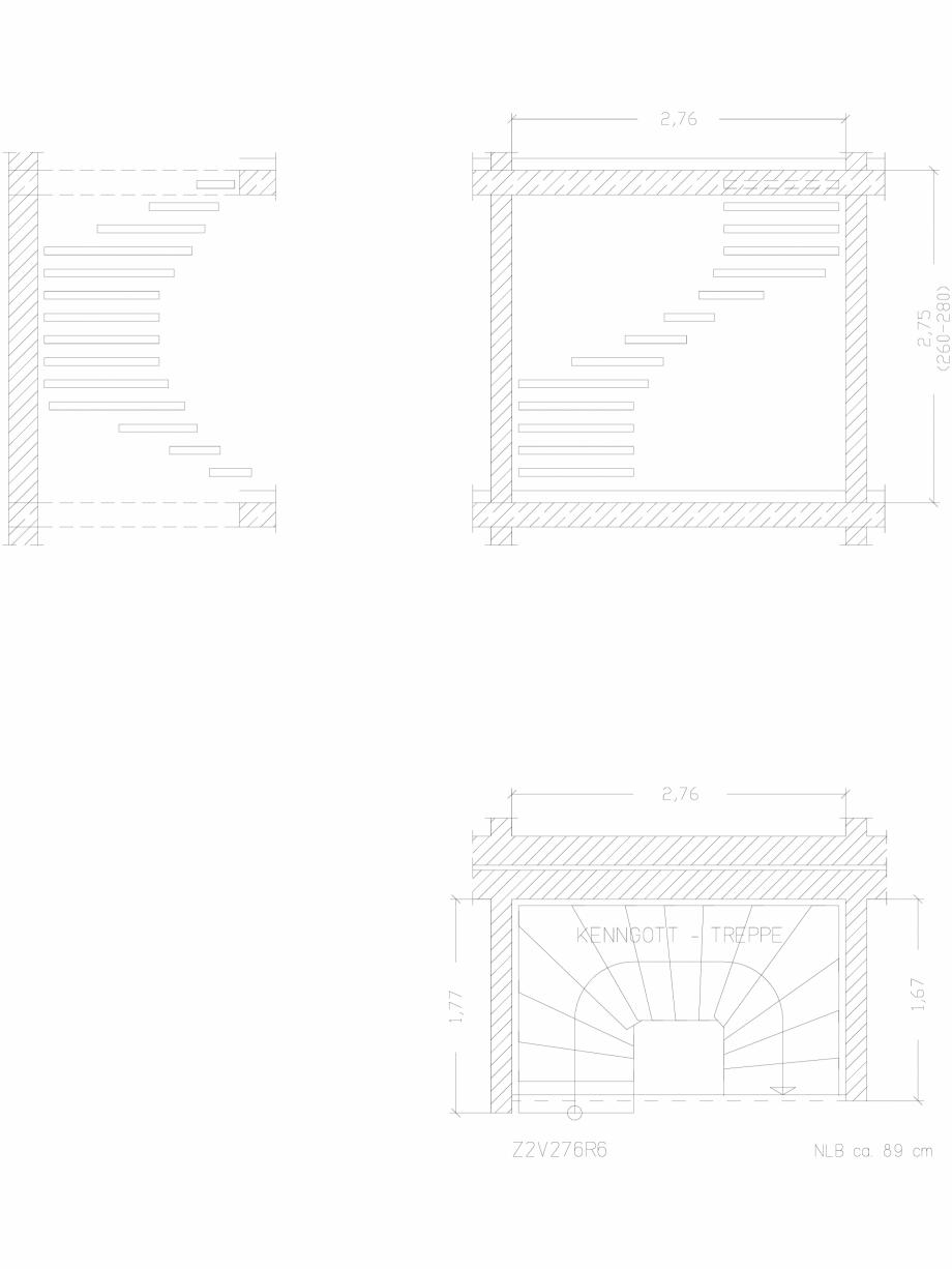 Pagina 1 - CAD-DWG Scara pe structura de metal - Z2V276R6 SCARI RO Detaliu de produs